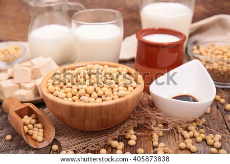 soy product - stock photo