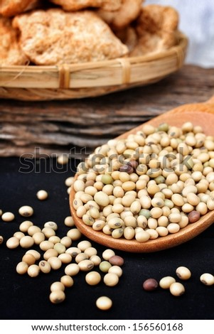 Soy protein for vegan food - stock photo