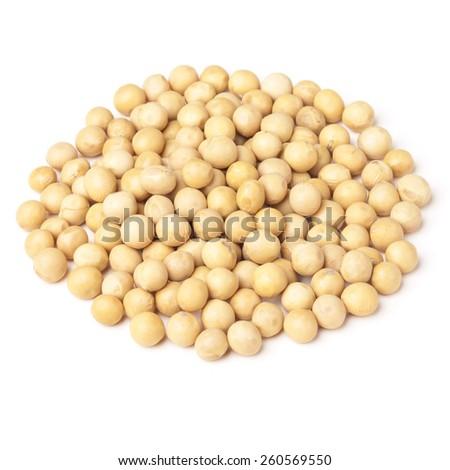 Soybean isolated on white - stock photo