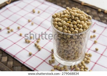 soybean milk grain natual vegan Asian diet  - stock photo