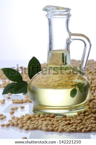 Soybean Oil - stock photo