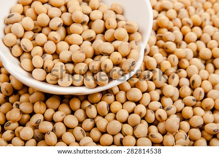 Soybeans in a ceramic bowl