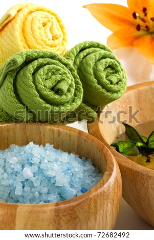 Spa accessories isolated on white