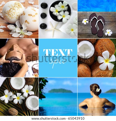spa and beauty collage