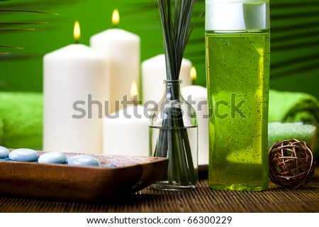 Spa and body care composition - stock photo