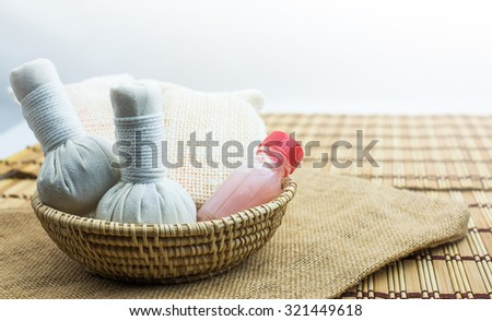 Spa and Massage, healthy and beautiful Isolated white background - stock photo