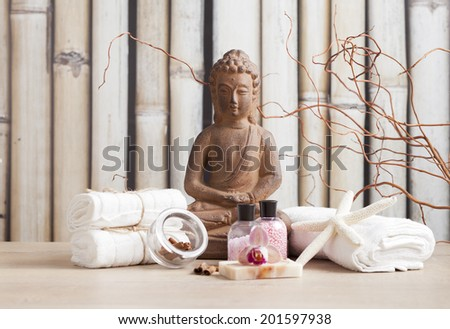 SPA and meditation background - stock photo