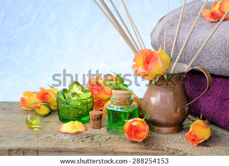 Spa and wellness with flowers and aromatic oils