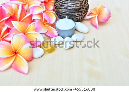 spa aroma sweet frangipani - stock photo