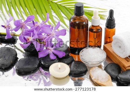 Spa Background with spa set - stock photo