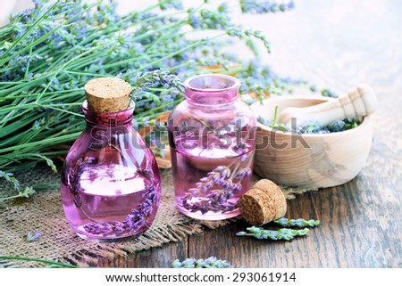 spa beauty products,aroma spa set - stock photo