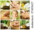 Spa Collage.Dayspa concept - stock photo