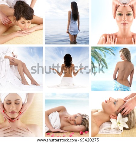 Spa composition of some beautiful pictures