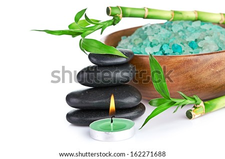 spa concept over white with sample text - stock photo