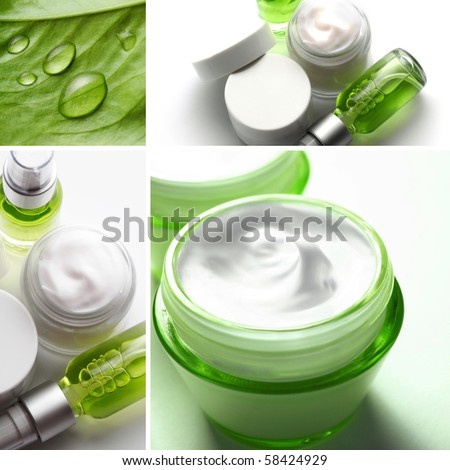 SPA cosmetics collage - stock photo