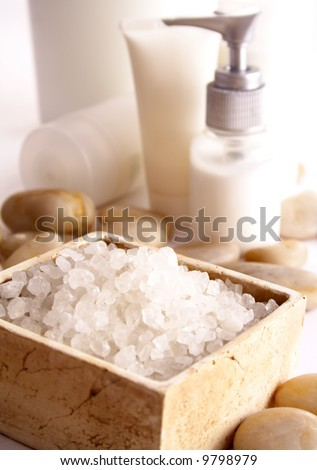 SPA cosmetics series. cosmetics products - stock photo