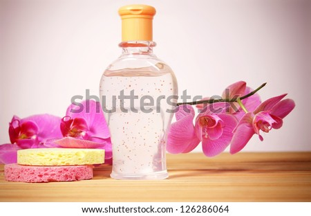 Spa elements (facial scrub ) - stock photo