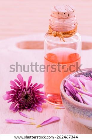 Spa Essential Oil - Natural Spas Ingredients for aroma aromatherapy. - stock photo
