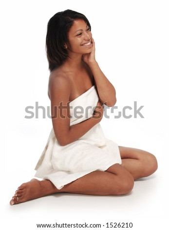 spa girl dark skin