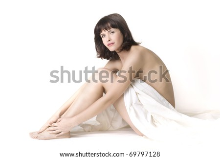 Spa girl on a white background