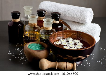 Spa ingredients - stock photo