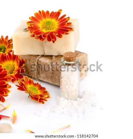 Spa isolated on white background