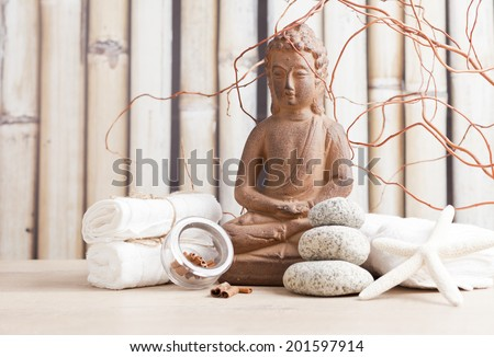 Spa, meditation, aromatherapy - stock photo