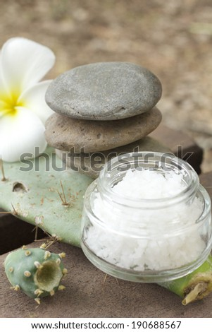 Spa of flower, stones and salt