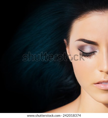 Spa portrait of young and beautiful girl. Complexion and hairstyle concept. - stock photo
