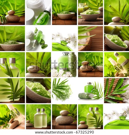 SPA products collection - stock photo
