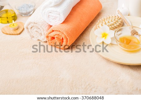 Spa related objects - stock photo