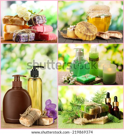 Spa remedies collage - stock photo