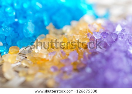 Spa salt. - stock photo