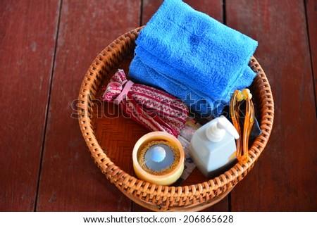 spa set - stock photo
