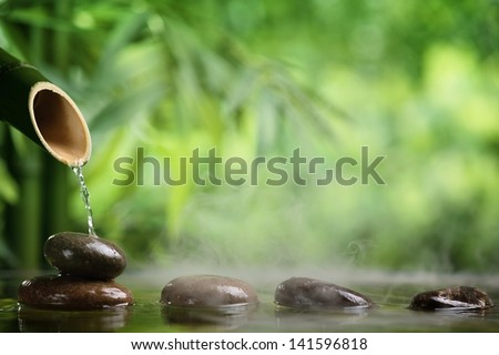 Zen water Stock Photos, Zen water Stock Photography, Zen water