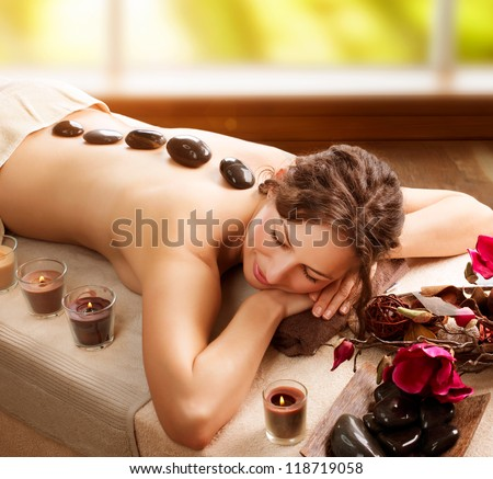 Spa. Stone Massage. Day Spa. Spa Salon - stock photo