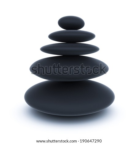 Spa stones isolated over white background - stock photo