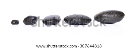 Spa stones isolated white background. Spa Concept - stock photo