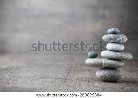Spa stones treatment scene, zen like concepts. - stock photo