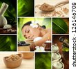 Spa theme  photo collage composed of different images - stock