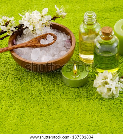 Spa treatment and aromatherapy