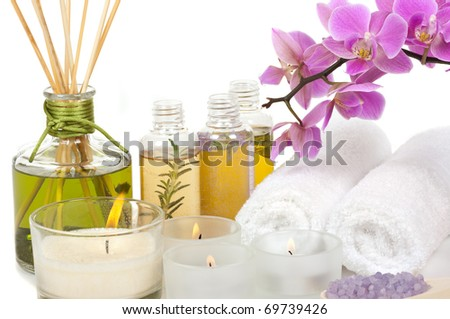 Spa treatment and aromatherapy - stock photo