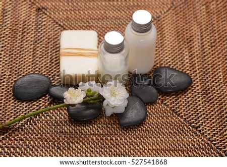 spa treatment and mat background,