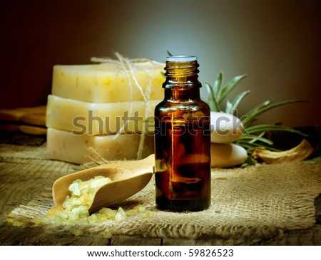Spa treatment.Aromatherapy.Essential Oil. - stock photo