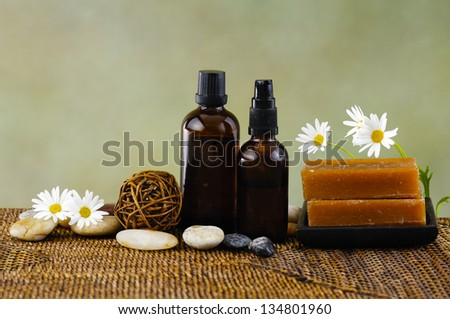 Spa treatment on mat - stock photo