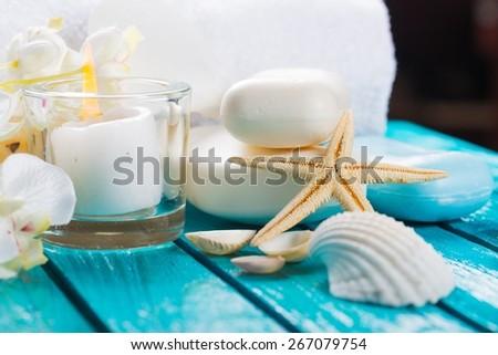 Spa Treatment. Spa Setting - stock photo