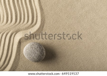 spa wellness and zen, relaxation and meditation concept for purity calmness peaceful harmony simplicity relax sand and stone texture background with lines and copyspace