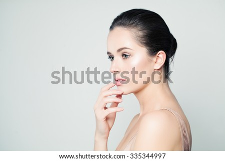 Spa Woman. Beautiful Face. Healthy Skin