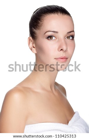 Spa woman with clean skin