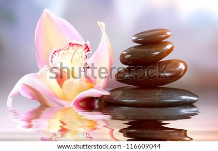 Spa Zen Stones. Harmony. Spa Treatments - stock photo